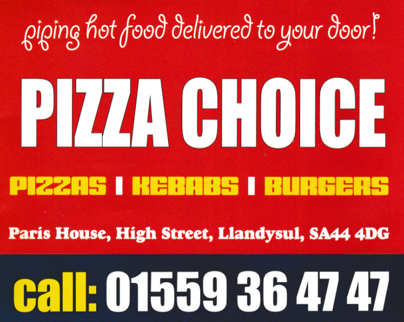 Pizza Choice - Pizzas, burgers, kebabs