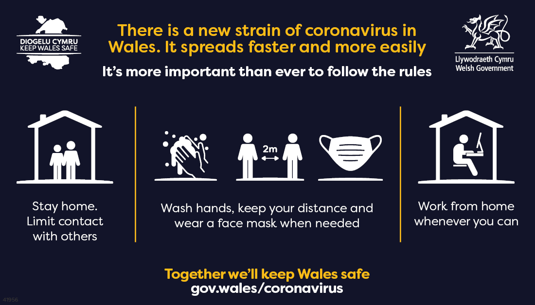 keep wales safe message